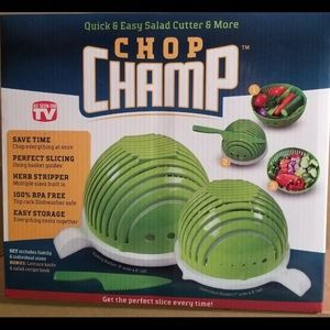 NEW Chop Champ Quick & Easy salad cutter & more